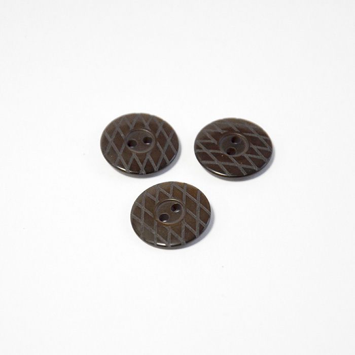 Button, for suits, brown, 18 mm, 15506-1M