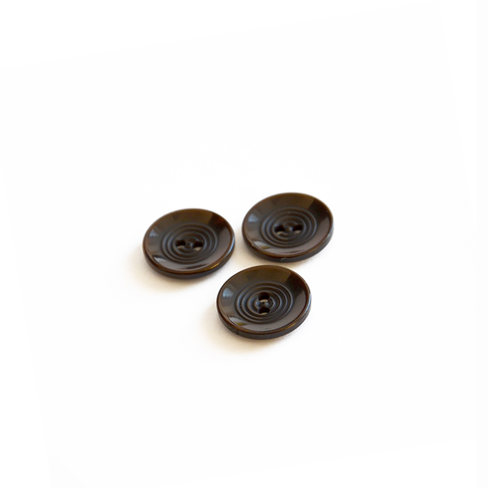 Button, for suits, brown, 17 mm, 15506-11D