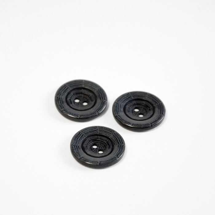Button, for suits, spider web, black, 22 mm, 15508-1F