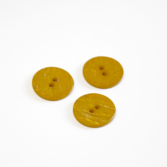 Button, for suits, yellow, 22 mm, 15508-1K