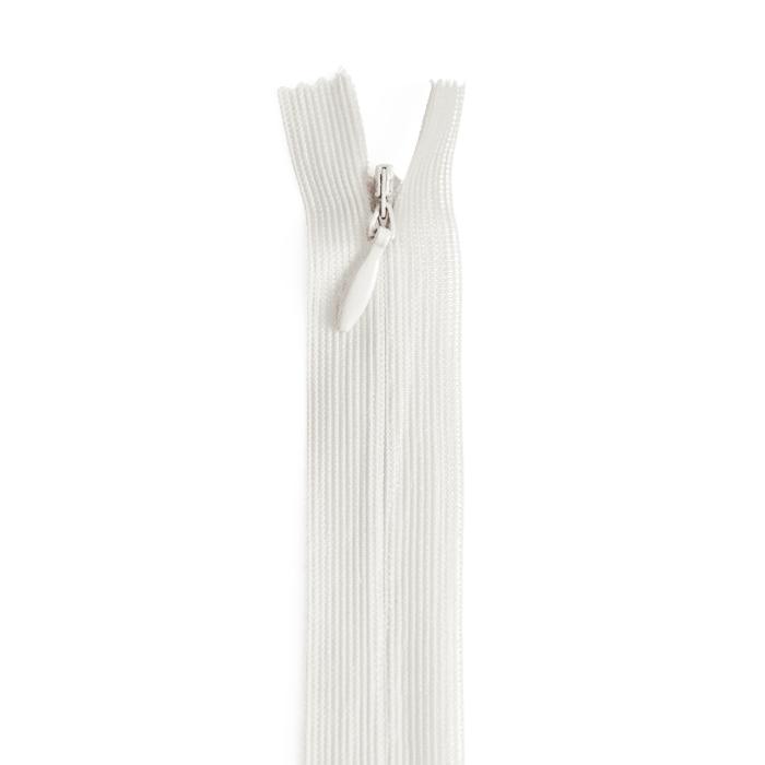 Zipper, invisible 22 cm, 04 mm, 4471-000, cream