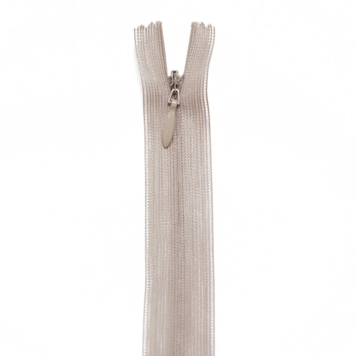 Zipper, invisible 22 cm, 04 mm, 4471-715, beige