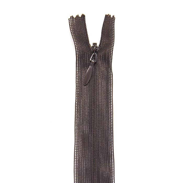 Reißverschluss, versteckt, 22cm, 04mm, 4471-780, dunkelbraun