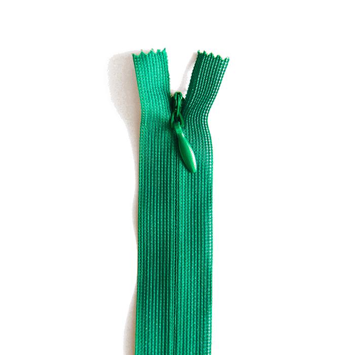 Zipper, invisible 22 cm, 04 mm, 4471-639, green