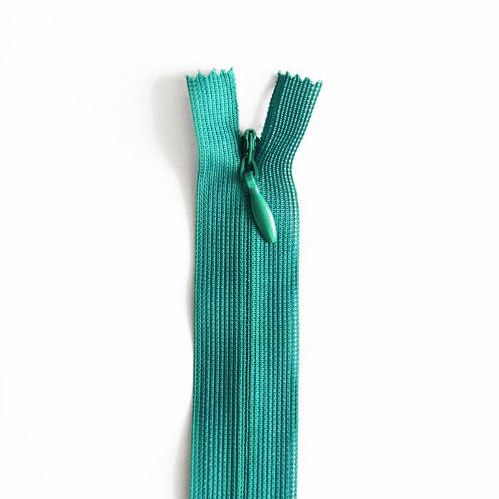 Zadrga, skrita 22 cm, 04 mm, 4471-630, petrol zelena
