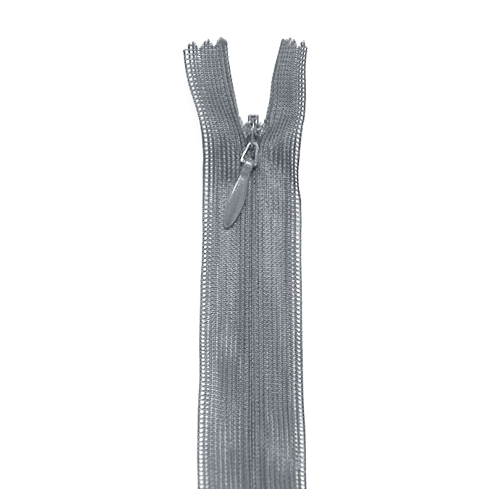 Zipper, invisible 22 cm, 04 mm, 4471-838, grey