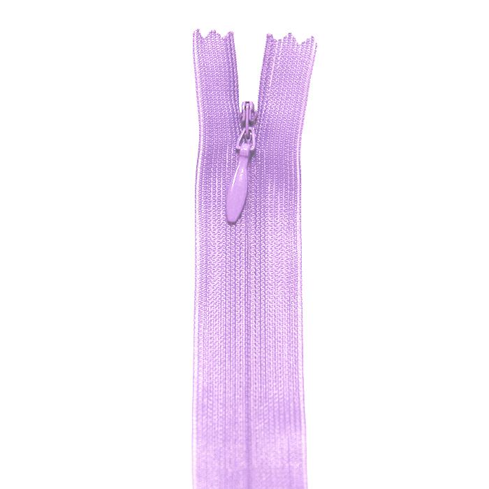 Zadrga, skrita 22 cm, 04 mm, 4471-410, lavanda