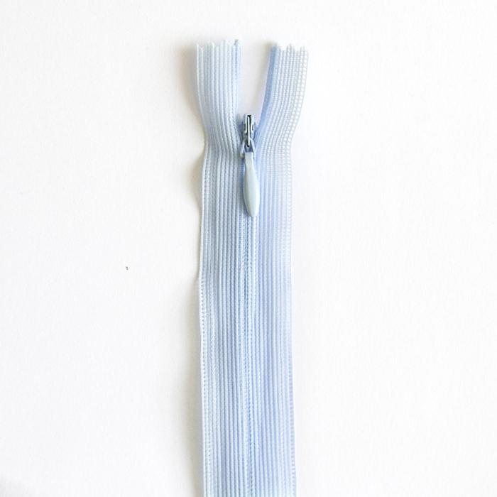 Zipper, invisible 22 cm, 04 mm, 4471-503, light blue