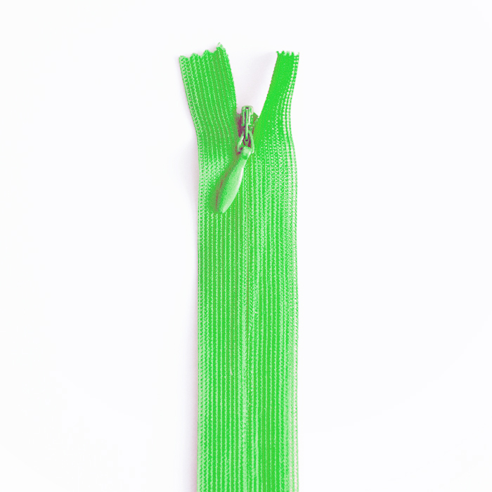 Zipper, invisible 60 cm, 04 mm, 2041-616A, green
