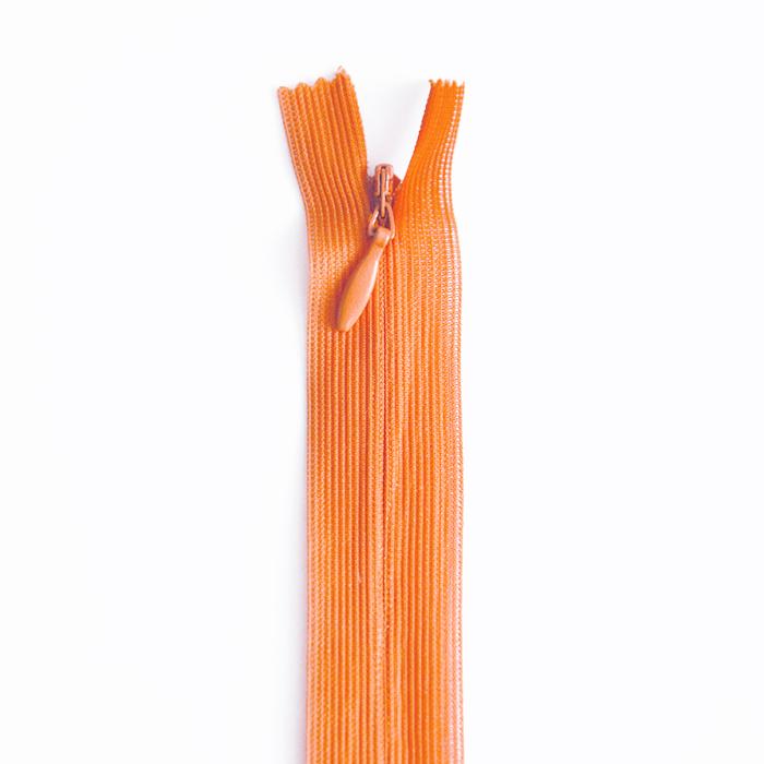 Zipper, invisible 22 cm, 04 mm, 4471-231A, orange