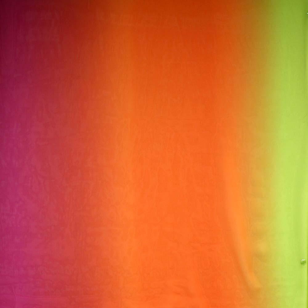 Chiffon, Polyester, Mehrfarbig, 10565, zyklame orange grün