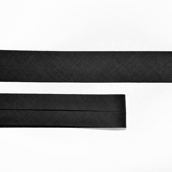 Obrobni trak, bombaž, 15516-999, črna