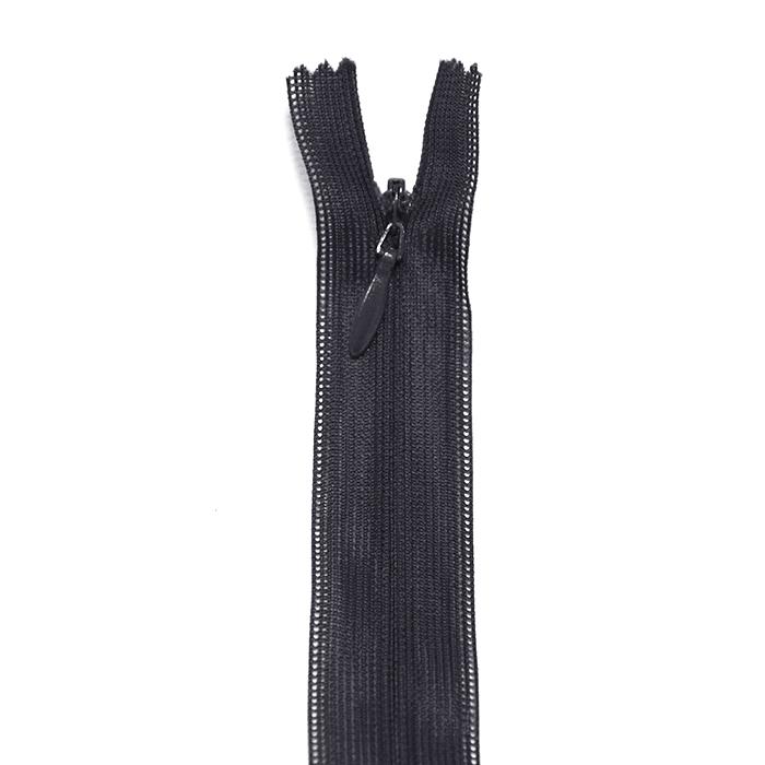 Zipper, invisible 60 cm, 04 mm, 2041-910A, black