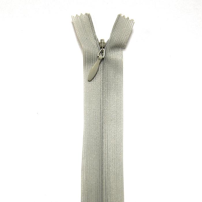 Zadrga, skrita 22 cm, 4mm, 4471-677a, siva