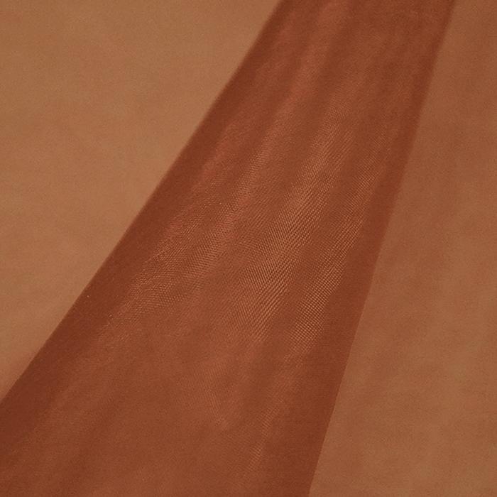 Organdi, poliamid, 4851-320, smeđa