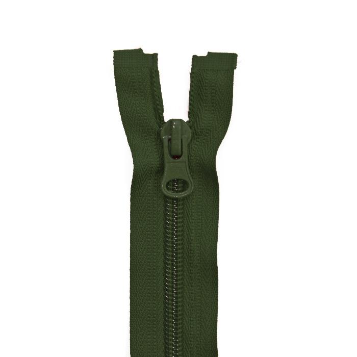 Zatvarač, djeljiv 60 cm, 6 mm, 2051-680A, zelena