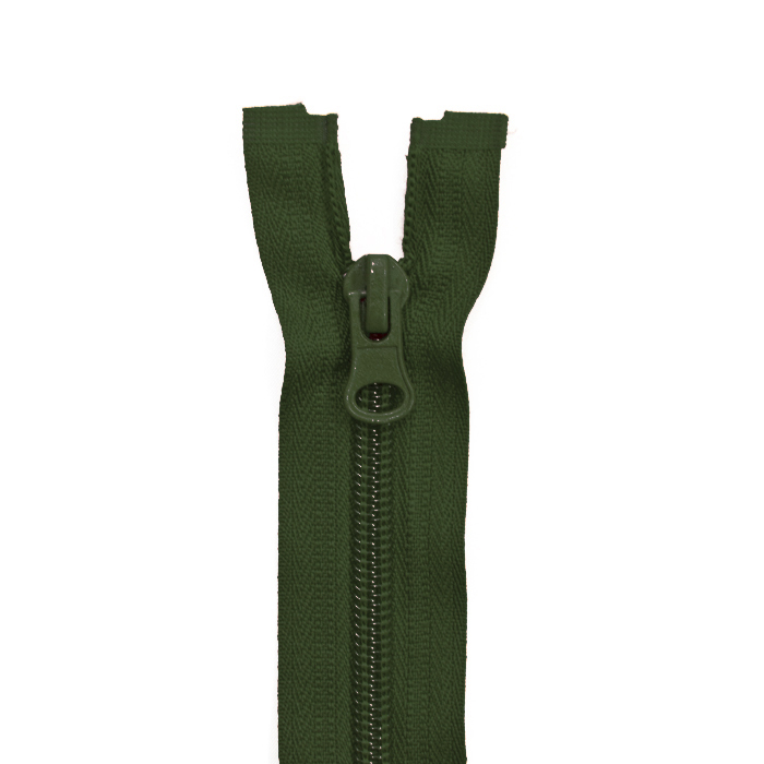 Zipper, divisible 60 cm, 6 mm, 2051-680A, green