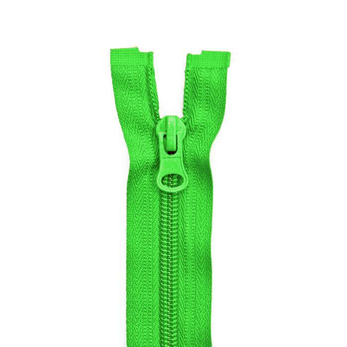 Zipper, divisible 60 cm, 6 mm, 2051-616, green