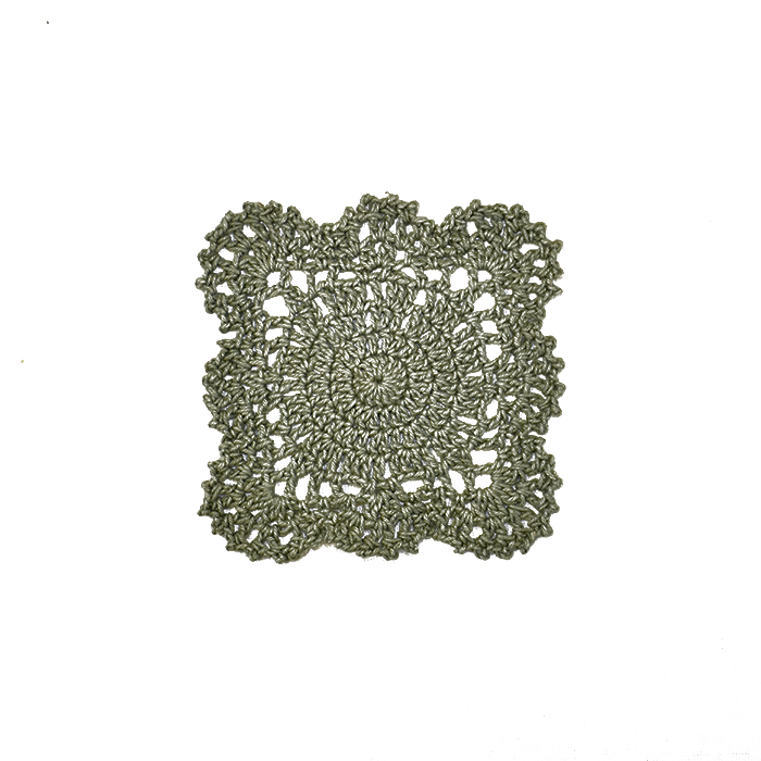 Našitek, kvačkan, 14165-A5, zelena