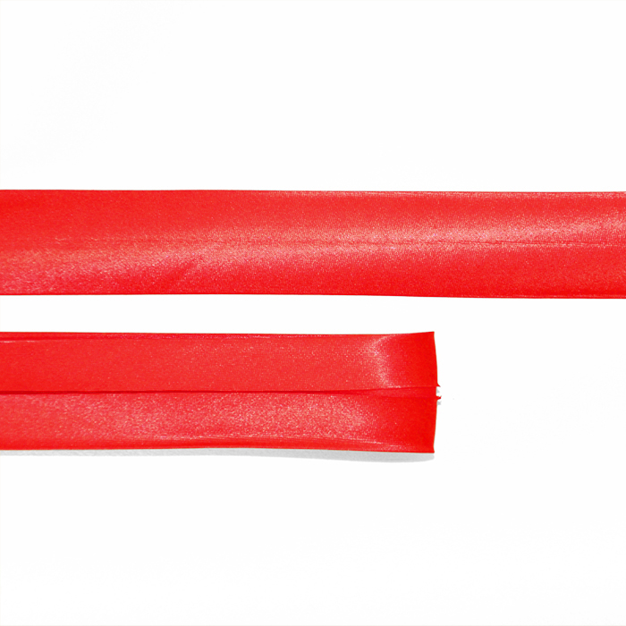 Bias tape, satin, 25_15644-489, red