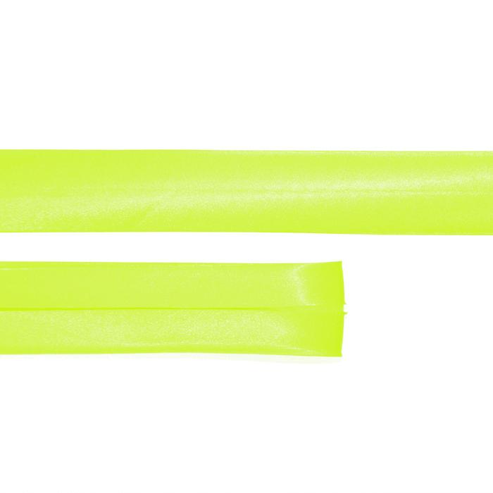 Obrobni trak, saten, 15644-4015, neon rumena