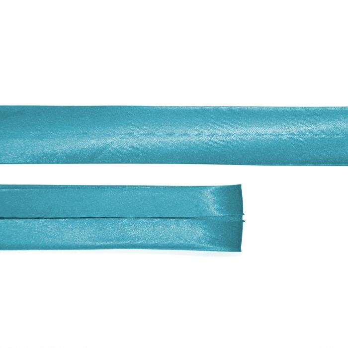 Bias tape, satin, 66_15644-478, turquoise
