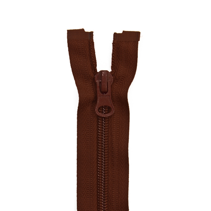 Zipper, divisible 60 cm, 6 mm, 2051-750A, brown