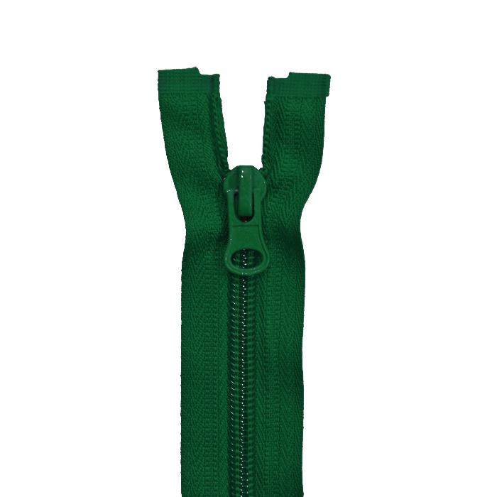 Zipper, divisible 60 cm, 6 mm, 2051-656, green
