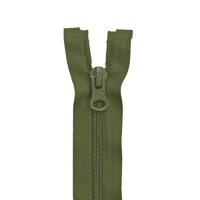 Zipper, divisible 60 cm, 6 mm, 2051-671, olive green