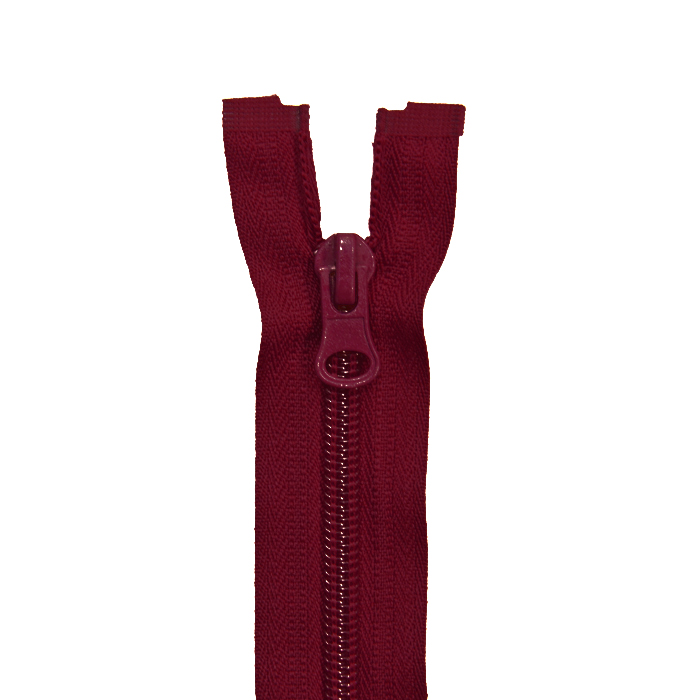 Zipper, divisible 90 cm, 6 mm, 2054-384A, burgundy