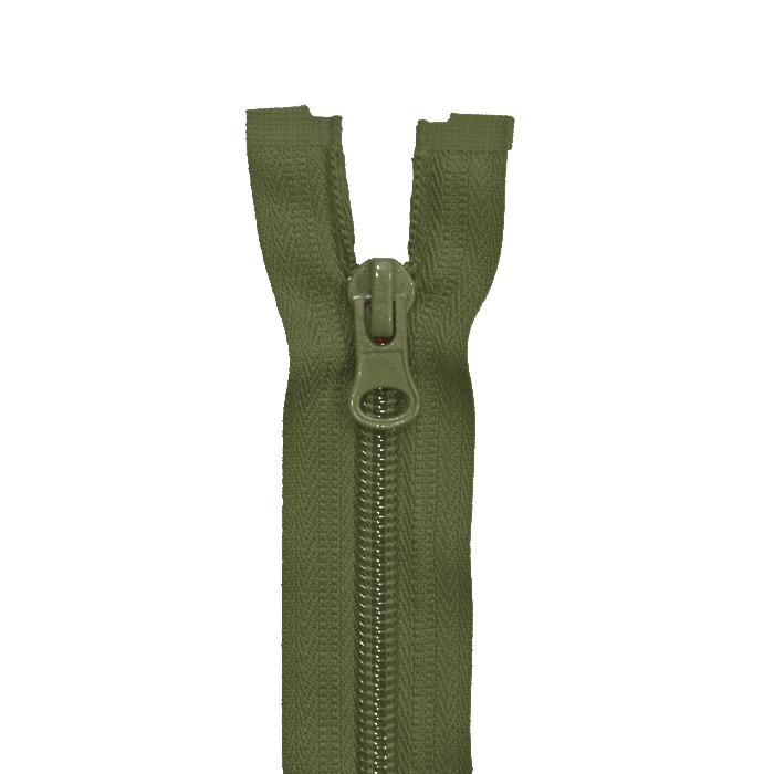 Reißverschluss, teilbar, 100 cm, 6 mm, 2049-671, olivengrün