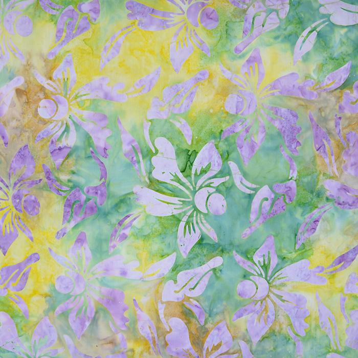 Bombaž, poplin, batik, cvetlični, 15652-27