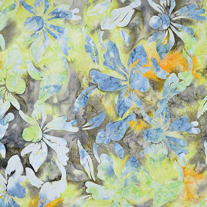 Bombaž, poplin, batik, cvetlični, 15652-28