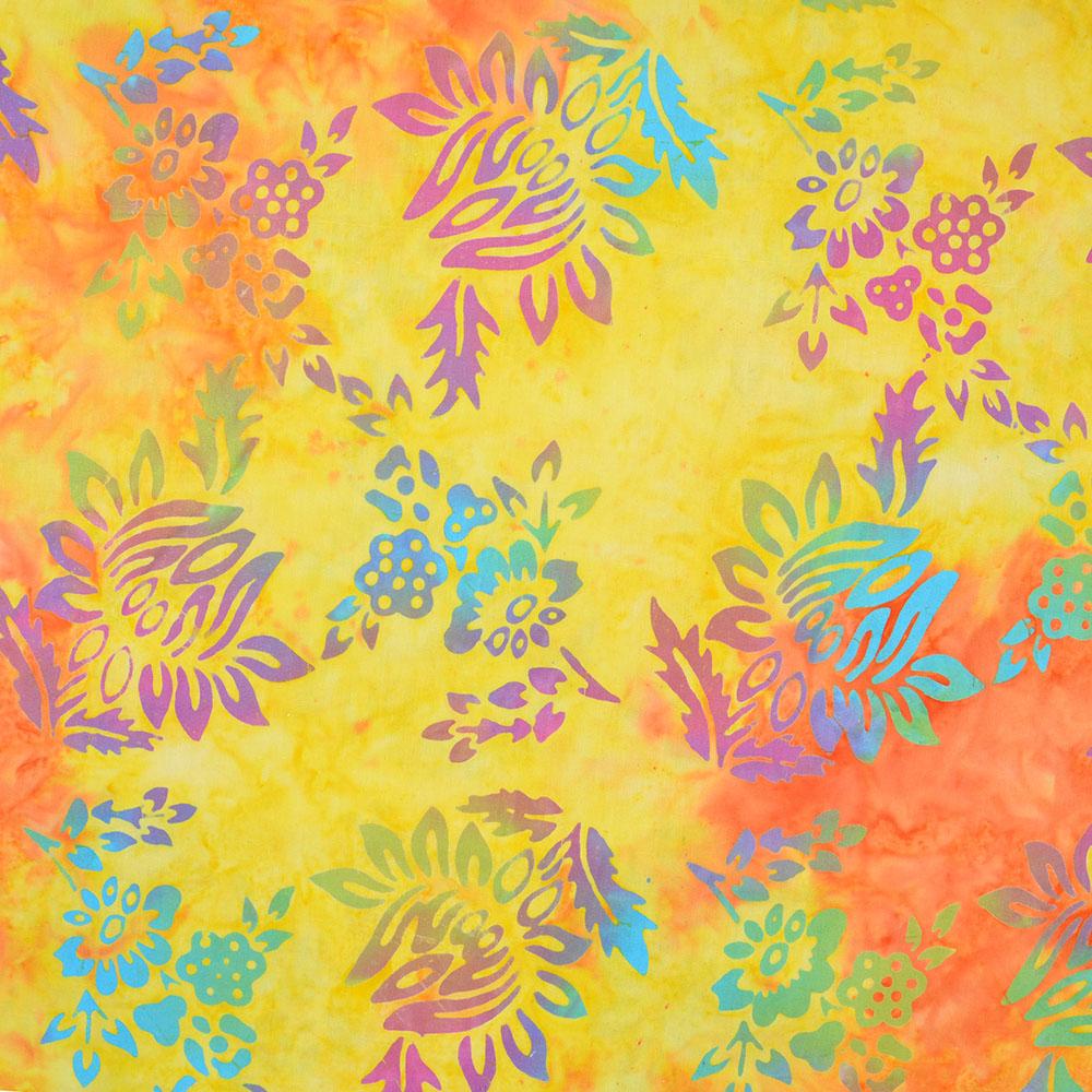 Pamuk, popelin, batik, cvjetni, 15657-40