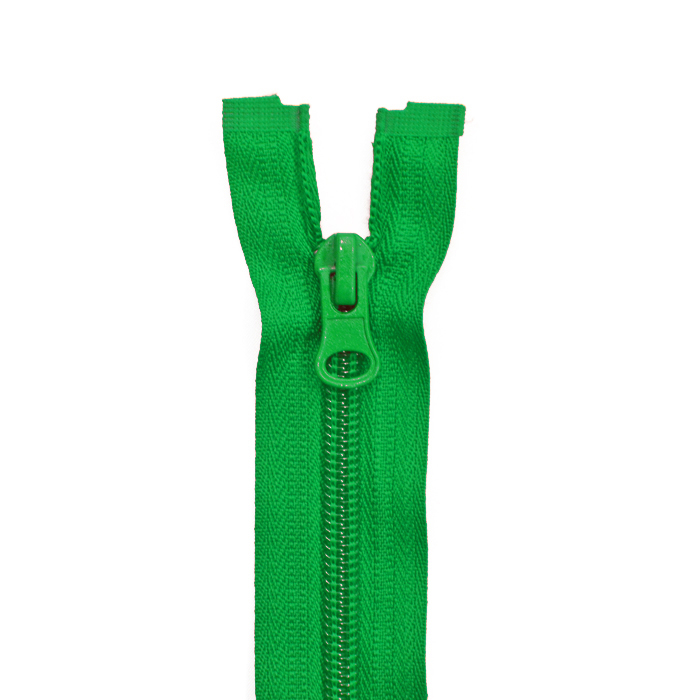 Zipper, divisible 70 cm, 6 mm, 2052-652, green