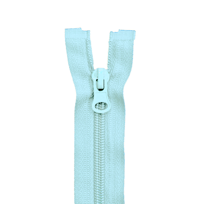 Zipper, divisible 70cm, 6mm, 2052-503B, light blue