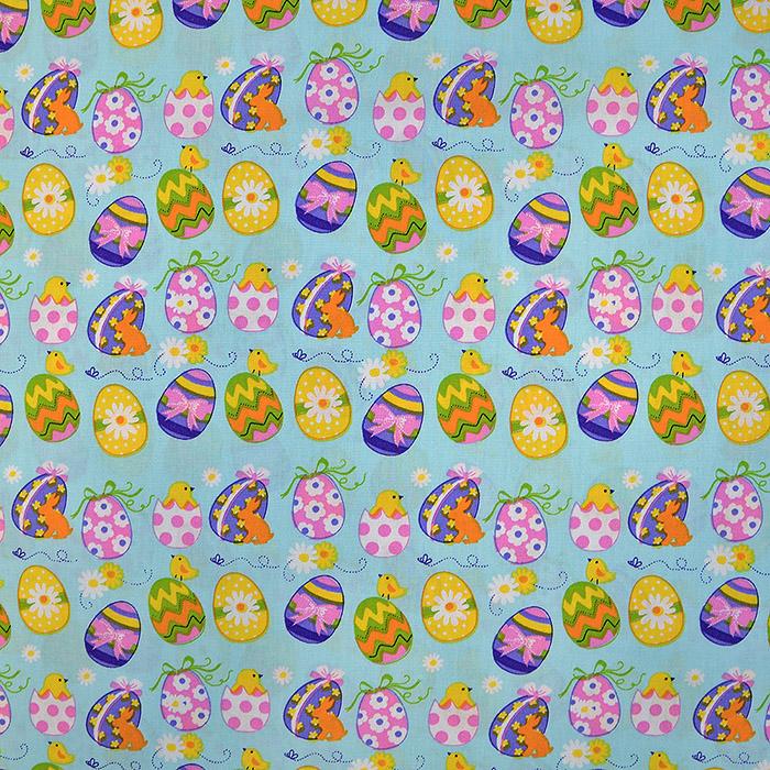 Cotton, poplin, Easter, 15672-022