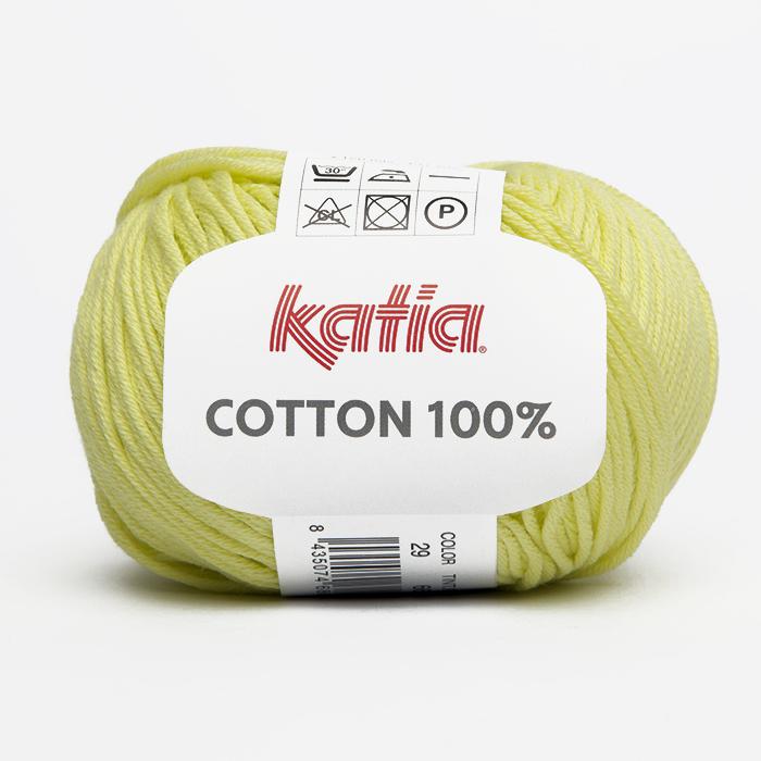 Garn, Cotton 100%, 14733-29, gelb