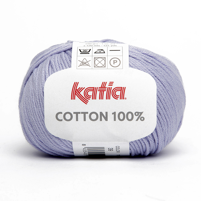 Yarn, Cotton 100%, 14733-39, lilac