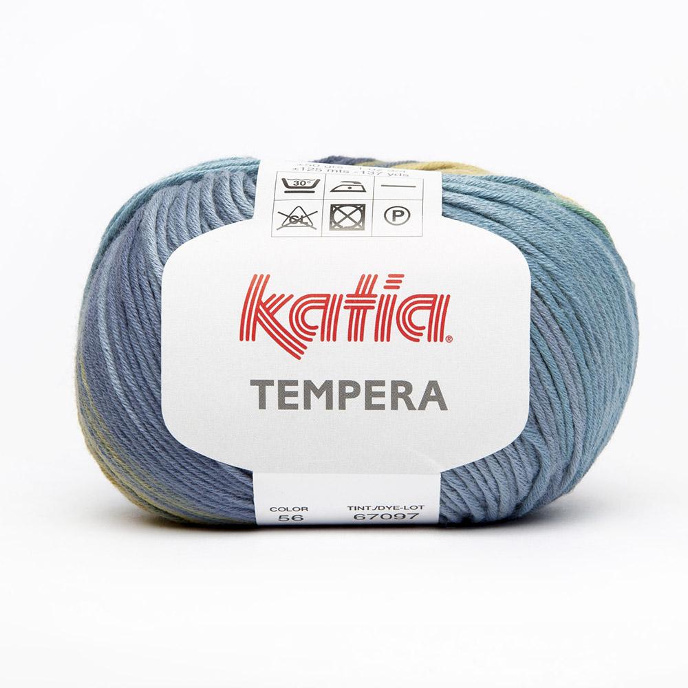 Yarn, Tempera, 15693-56, blue green