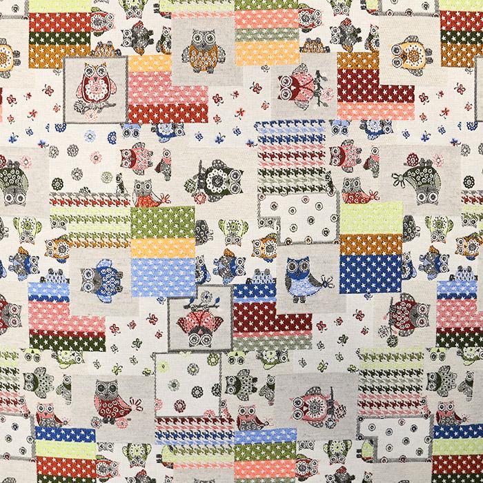 Deco jacquard, owls, 15731