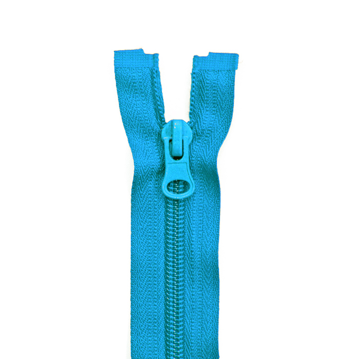 Zipper, divisible 70 cm, 6 mm, 2052-528, turquoise