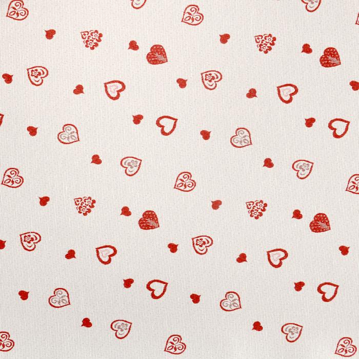 Deco jacquard, hearts, 15763-29