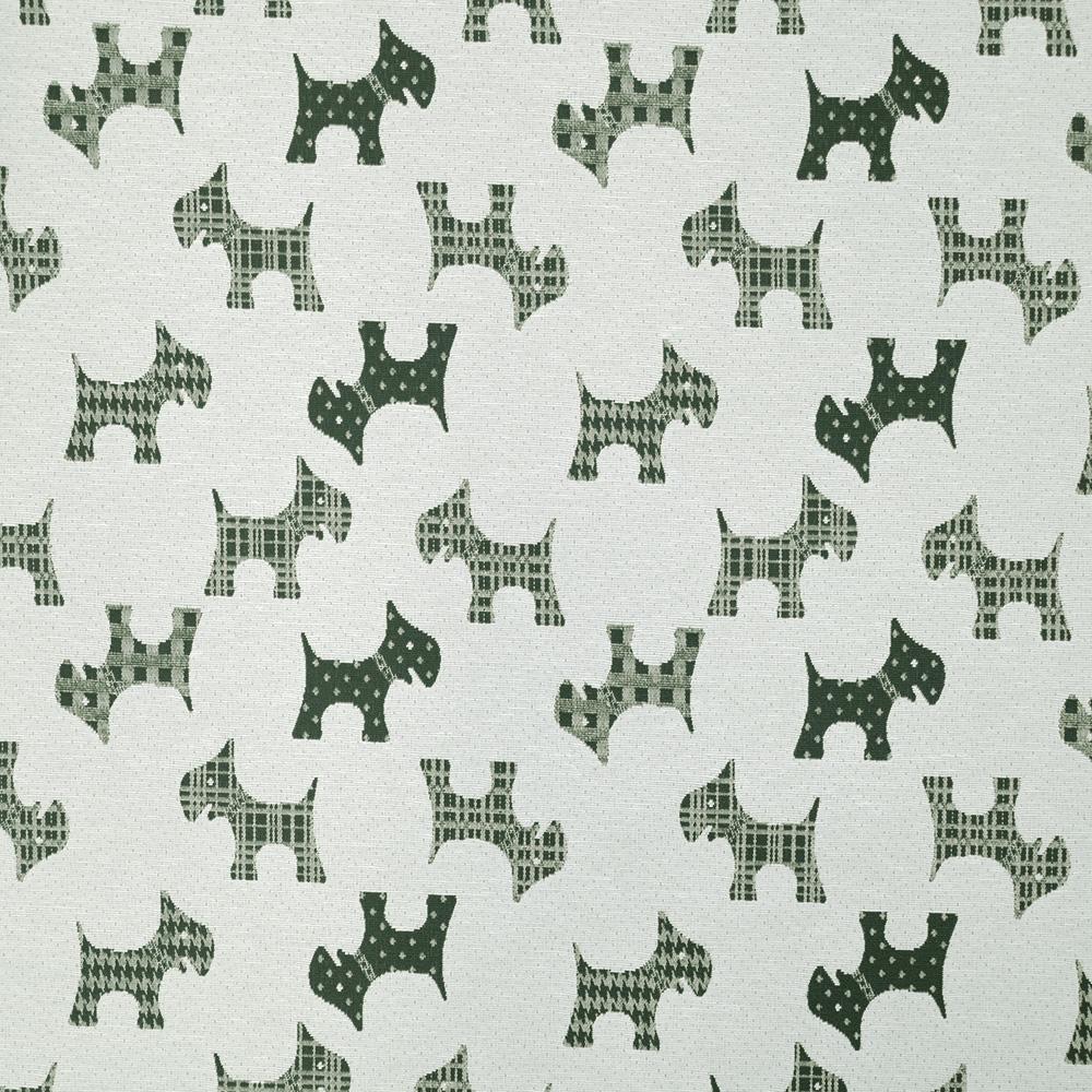 Deco jacquard, animals, dog, 15771-37, green