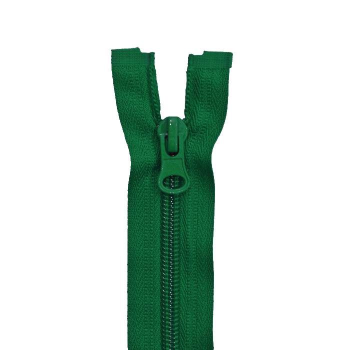 Zipper, divisible 60 cm, 6 mm, 2051-656A, green