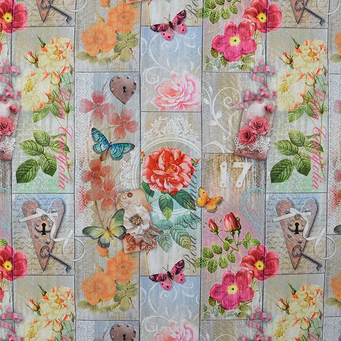 Deco, print, floral, 15808-01