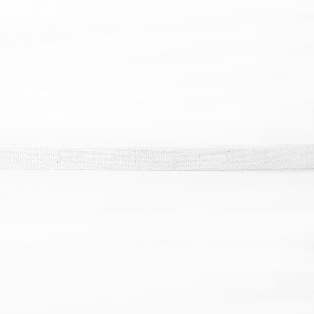 Traka, pamuk, 10mm, 15834-1, bijela