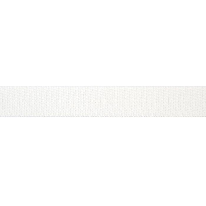 Band, Köper, Baumwolle, 15 mm, 15835-1, weis