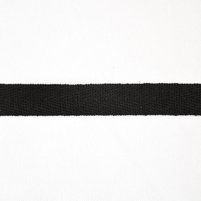 Band, Köper, Baumwolle, 15 mm, 15835-2, schwarz