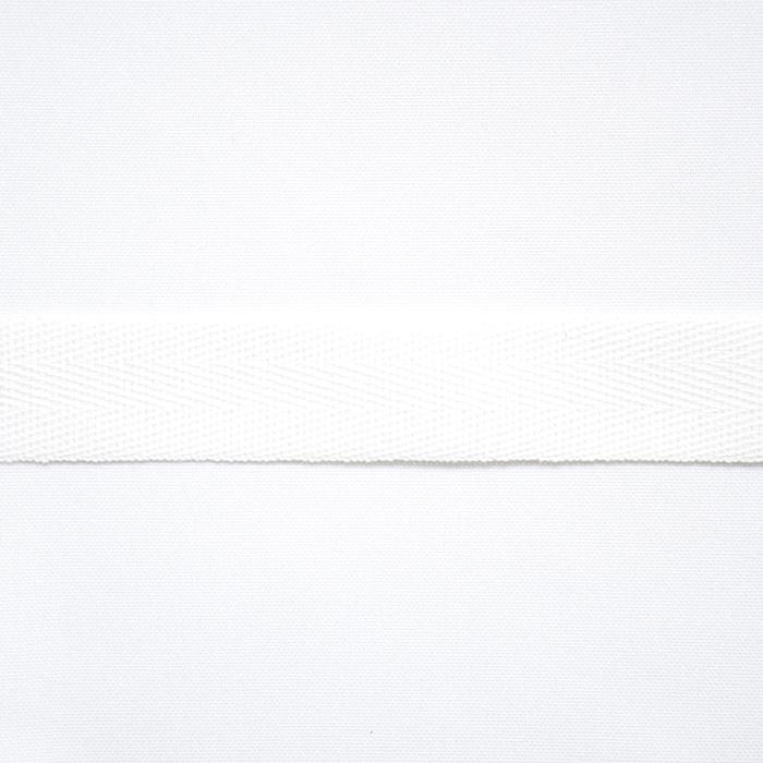 Band, Köper, Baumwolle, 20mm, 15837-1, weis